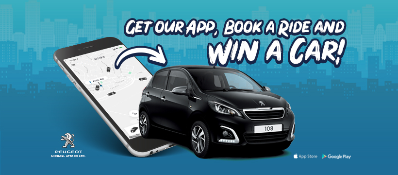 Get our App, Book a ride and WIN a CAR! – eCabs